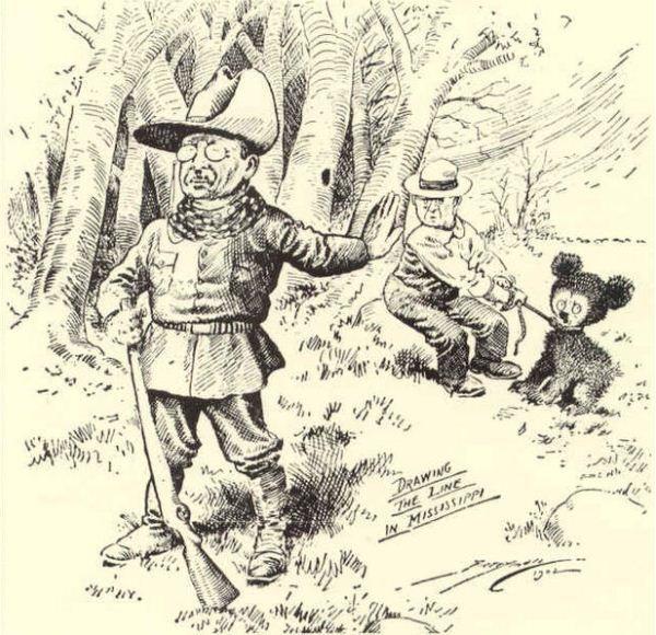 La viñeta del oso de peluche